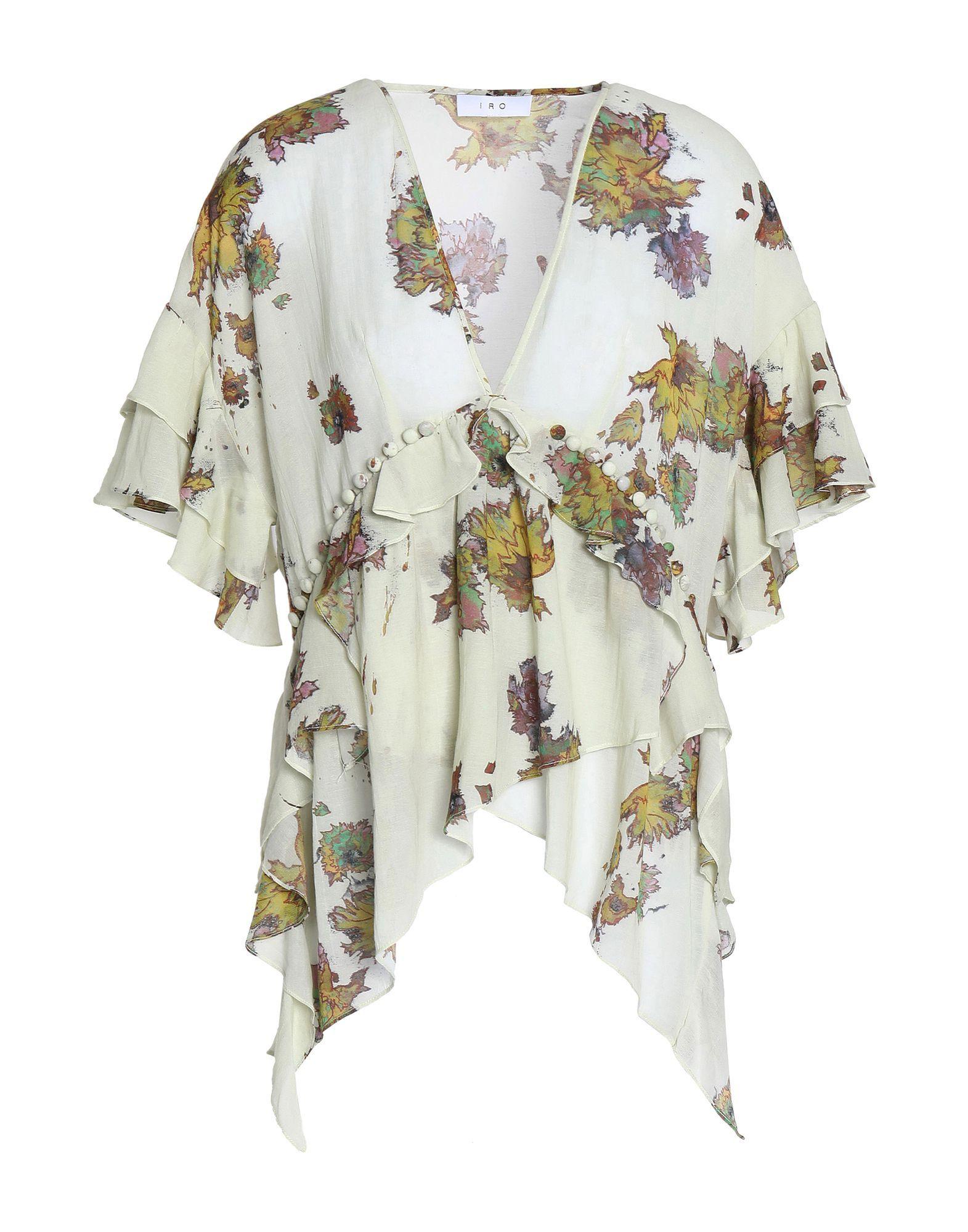 Iro Beige Floral Print Blouse