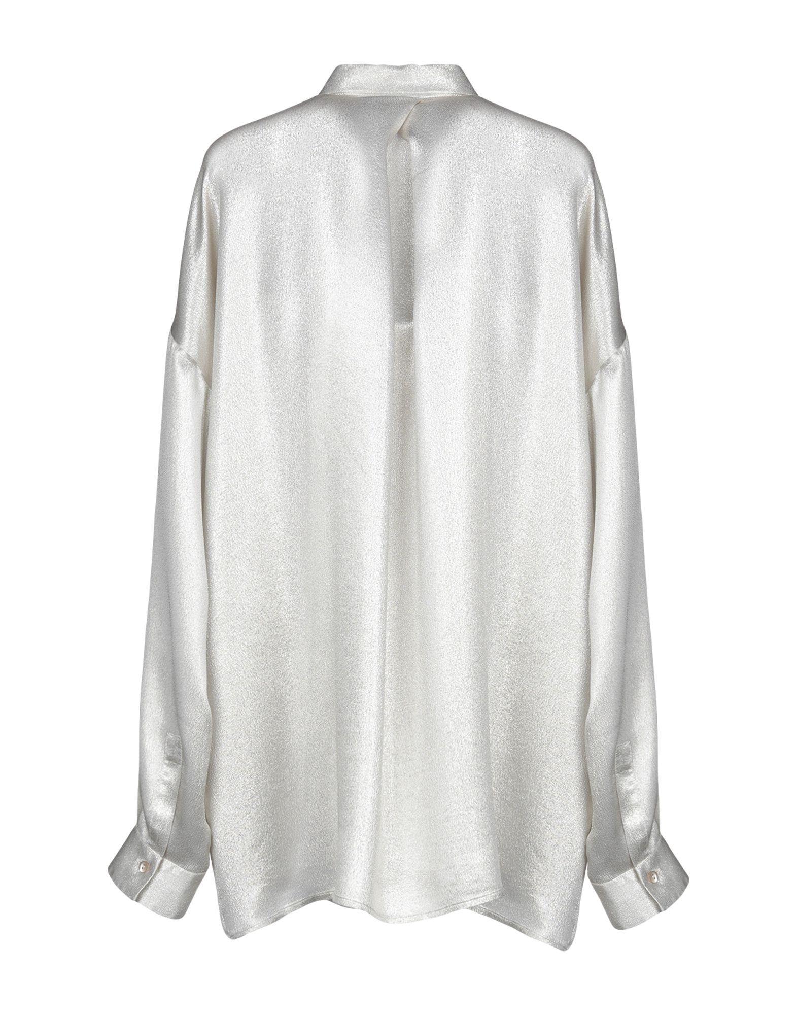 Her Shirt Light Grey Silk Blouse