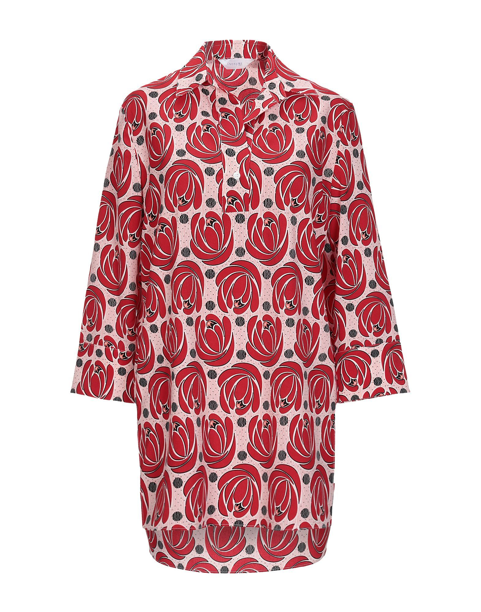 Anonyme Designers Red Print Long Sleeve Blouse