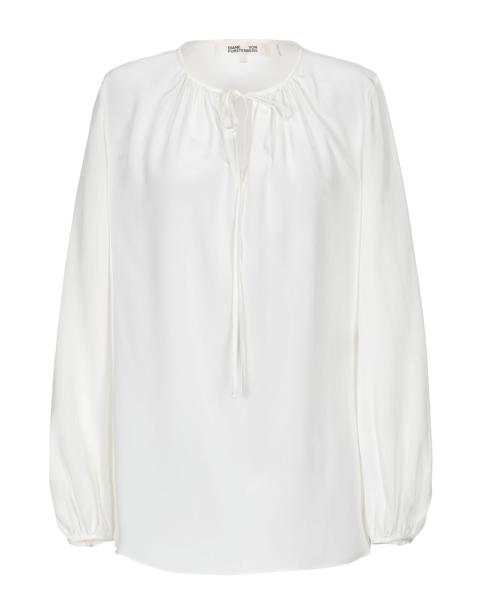 Diane Von Furstenberg Ivory Silk Shirt