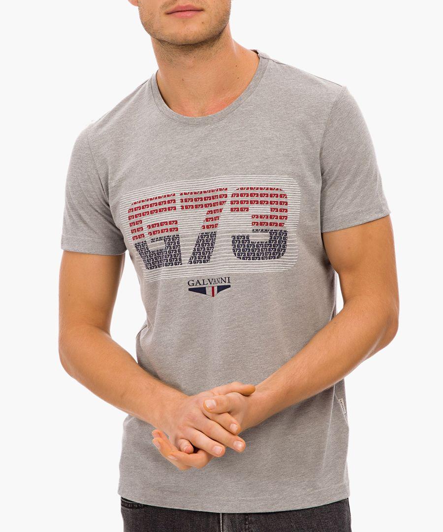 Grey cotton T-shirt