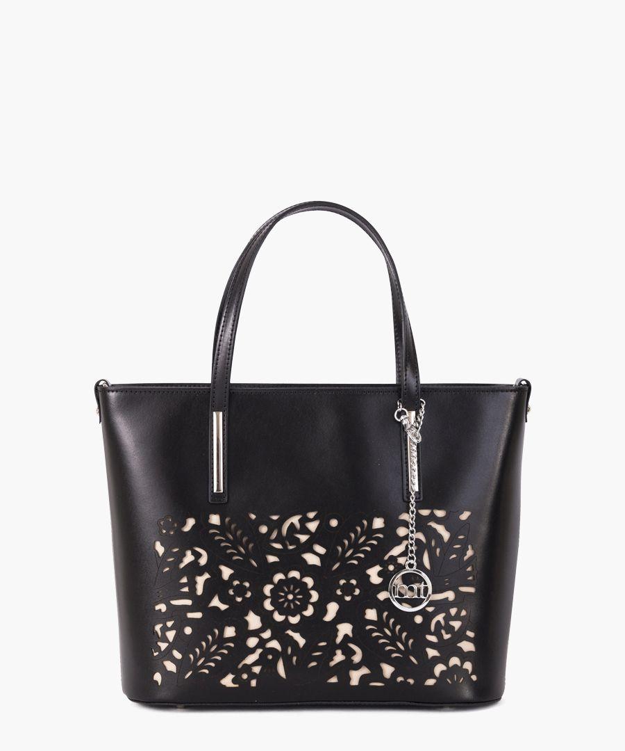 Comasina black leather grab bag