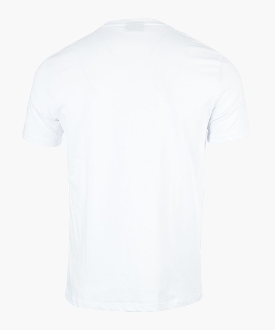 White logo slogan printed T-shirt