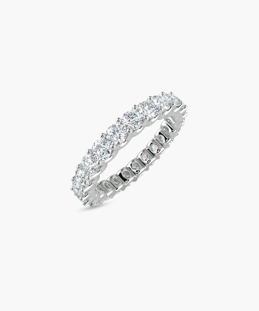 9k white gold full eternity ring