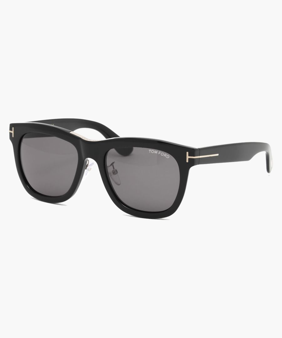Black and grey wayfarer sunglasses