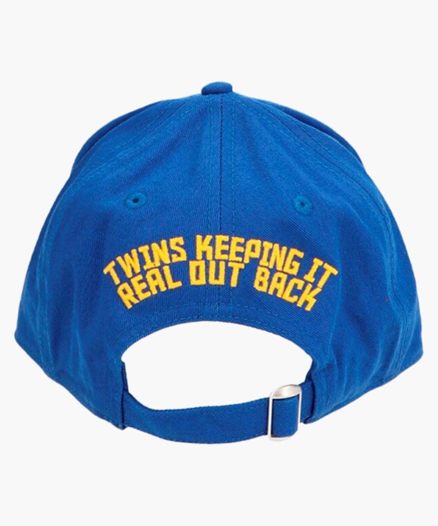 Blue cotton embroidered logo baseball cap