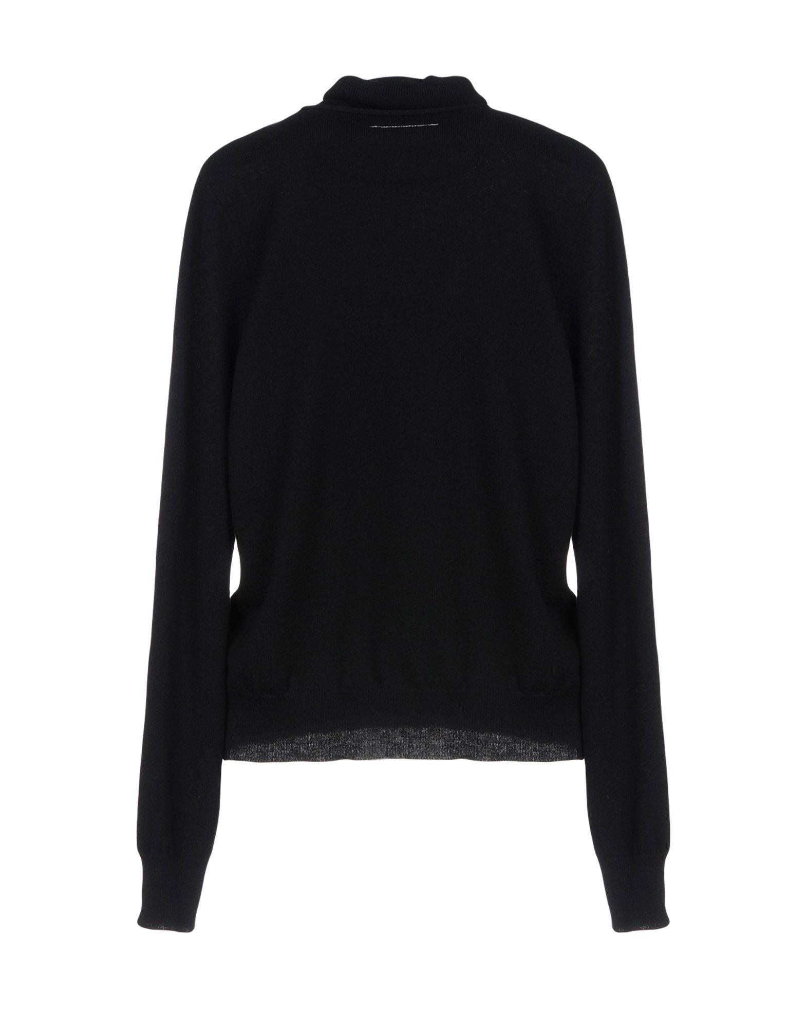 MM6 Maison Margiela Black Wool Jumper
