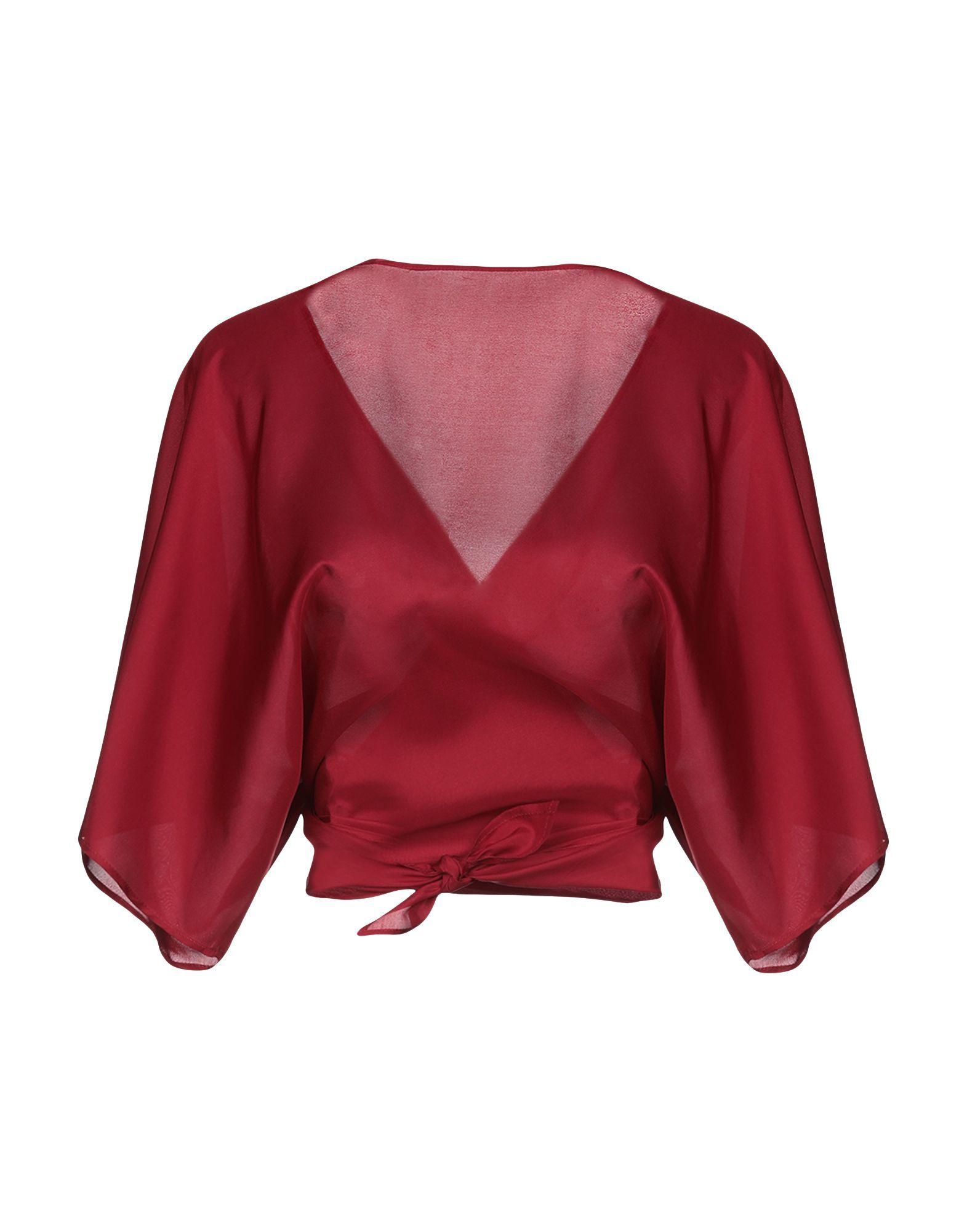 Jucca Maroon Silk Wrap Blouse