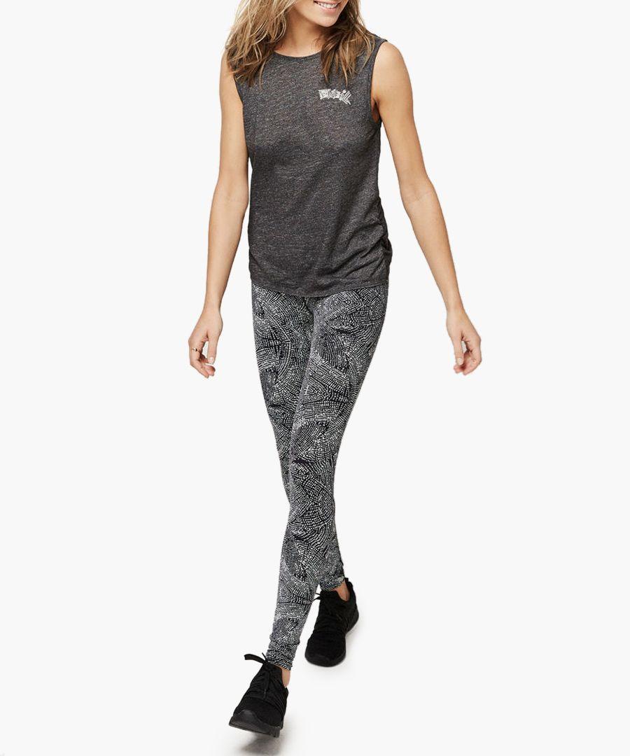 Dark grey cotton blend vest