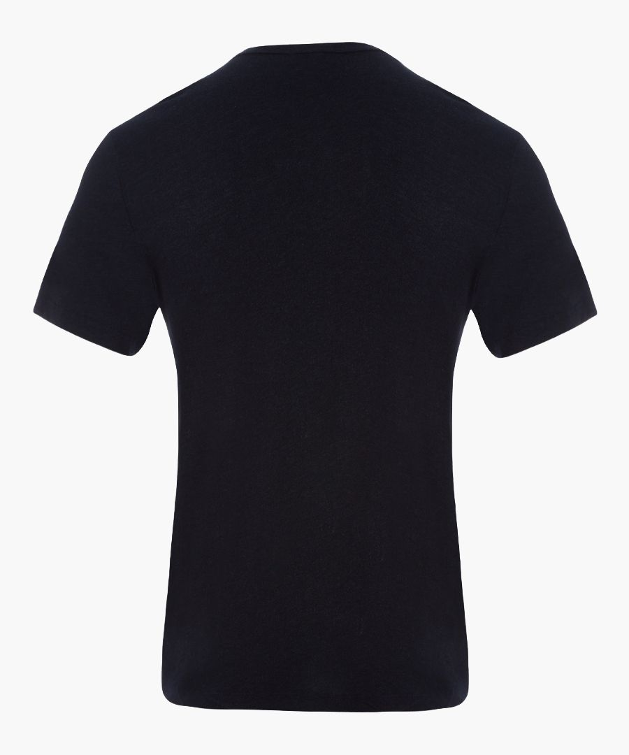 Deep anthracite pure cotton T-shirt