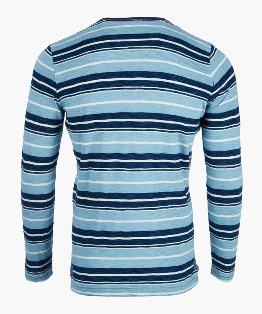 Indigo striped long sleeved top