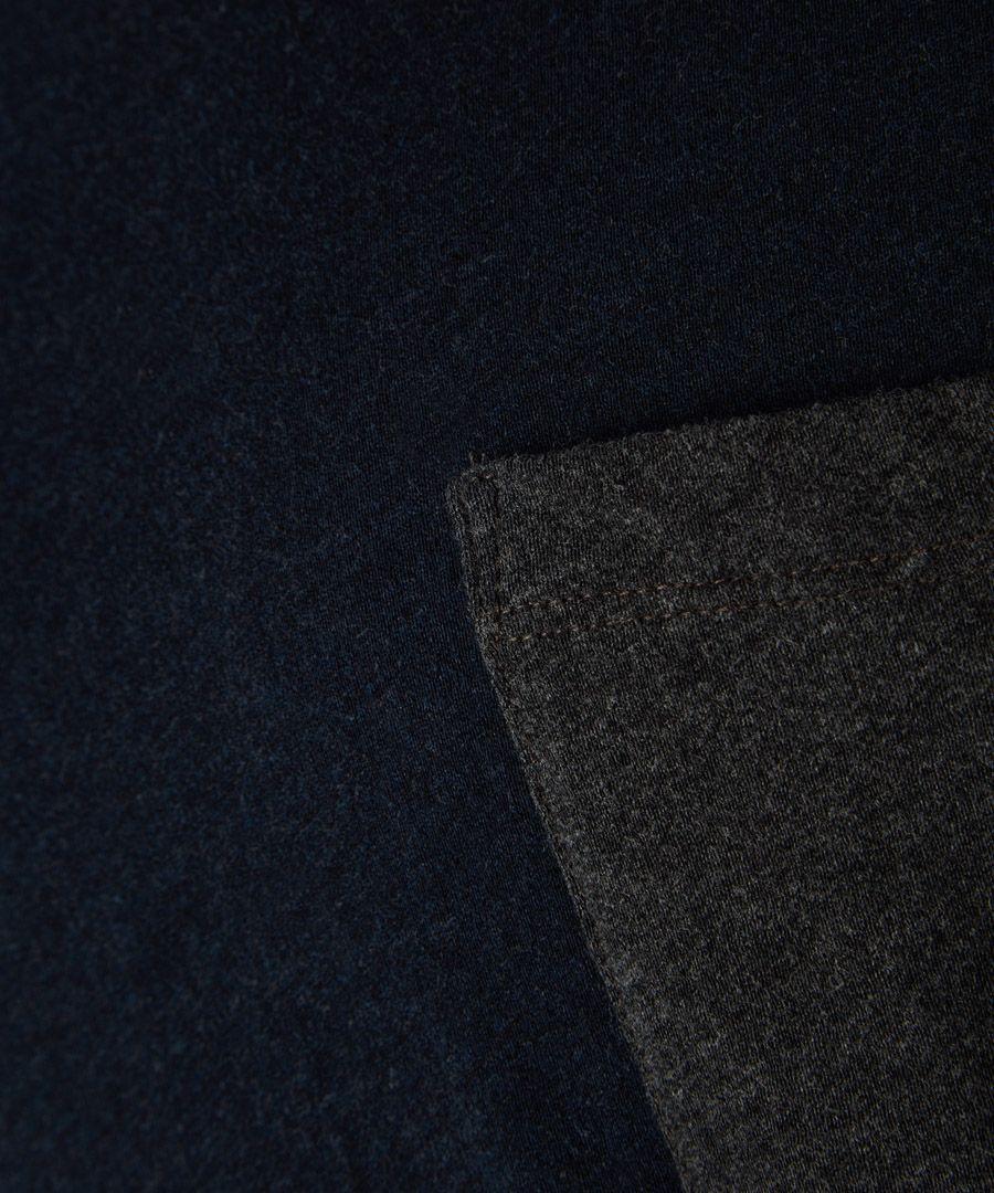 Deep anthracite pure cotton T-shirt