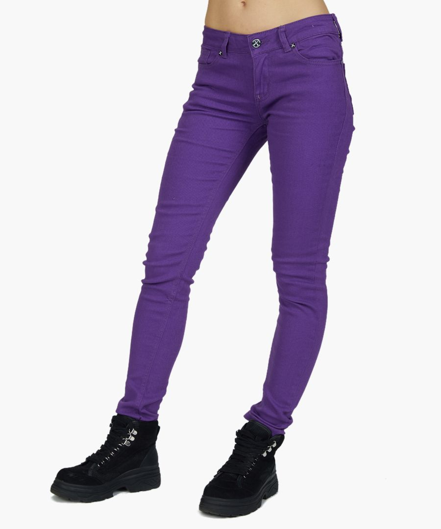 purple pure cotton skinny jeans
