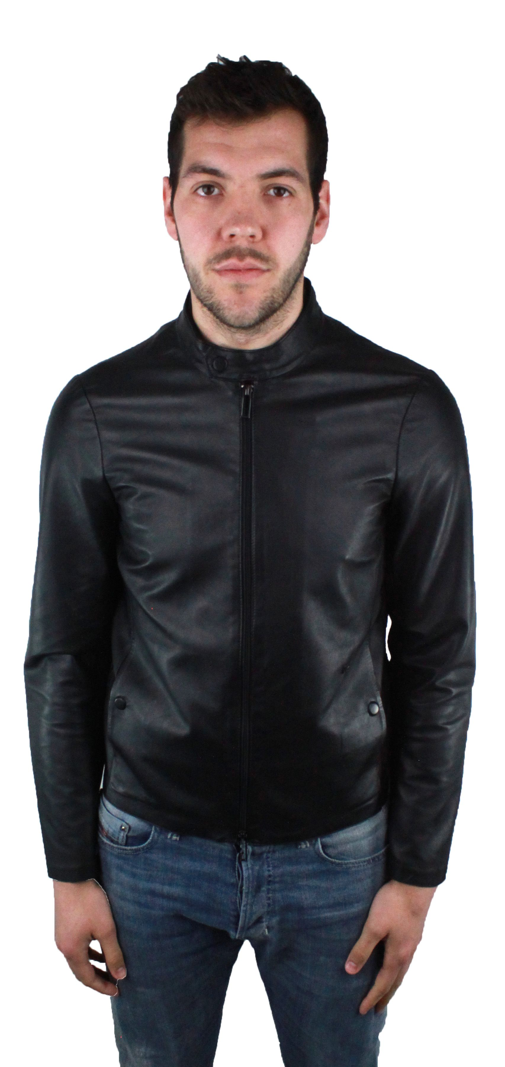 Emporio Armani 3Z1BM5 1LBAZ 999 Leather Jacket