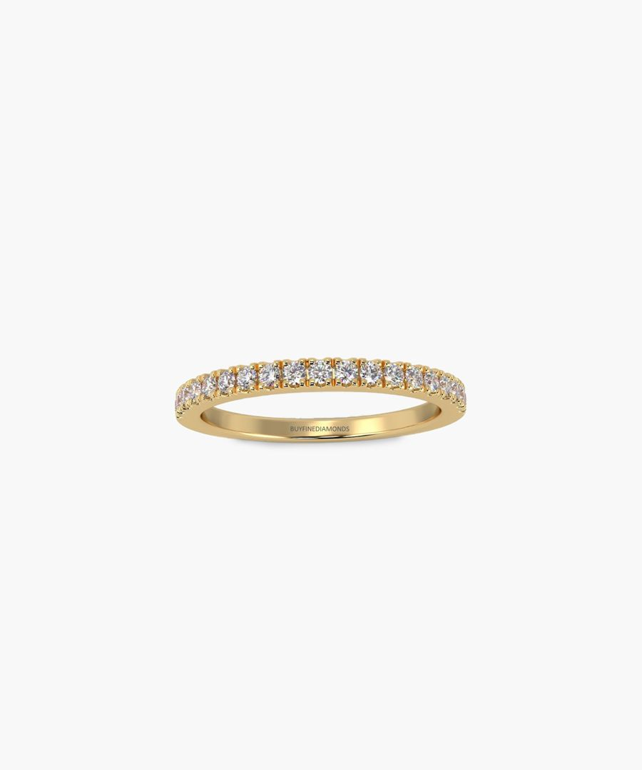 9k white gold and diamond micro pave eternity ring