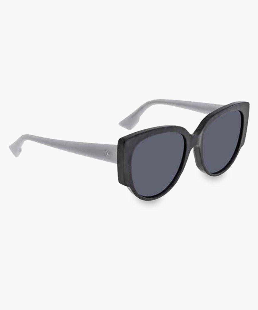Night pearl and blue cateye sunglasses