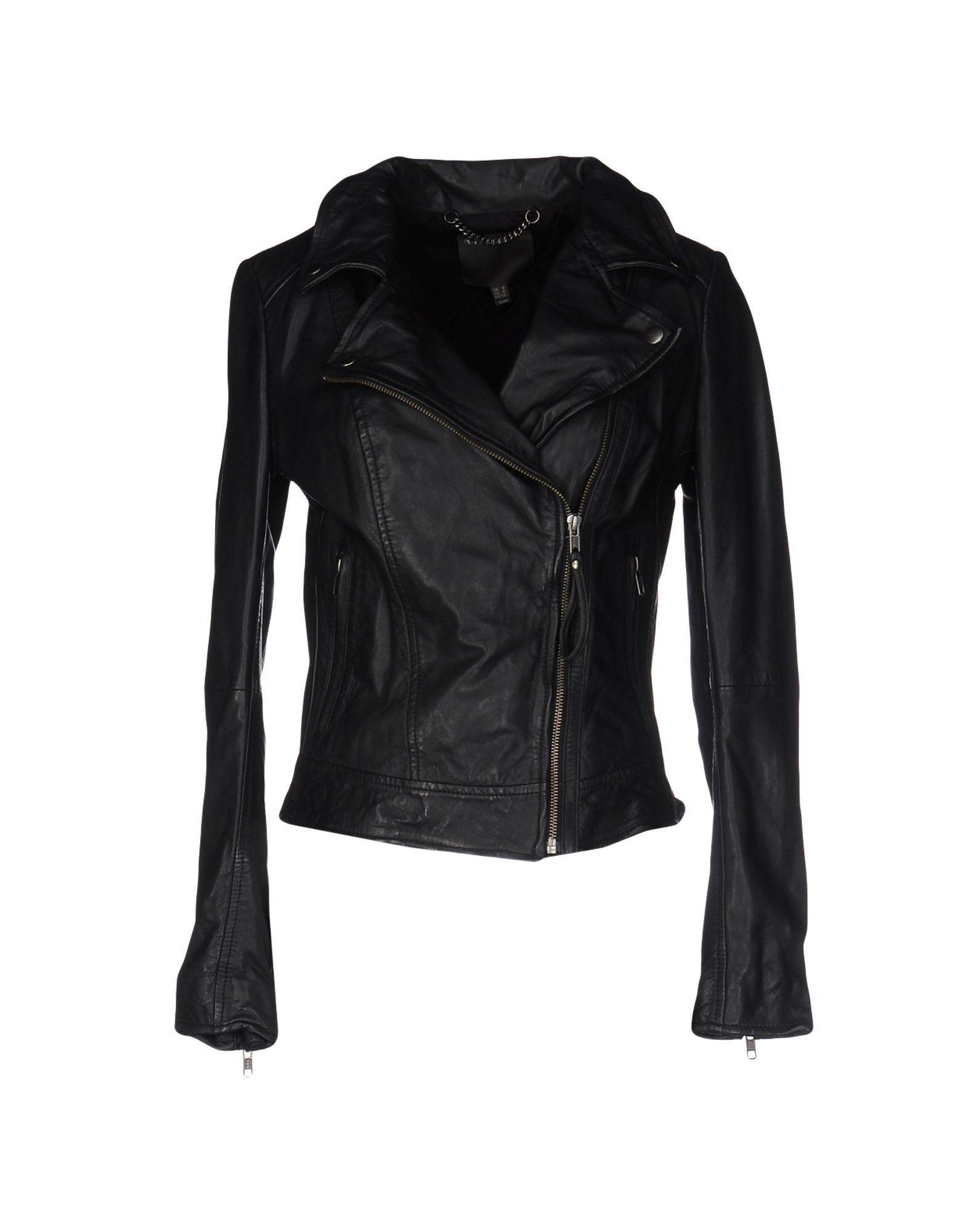 Muubaa Black Lambskin Leather Jacket