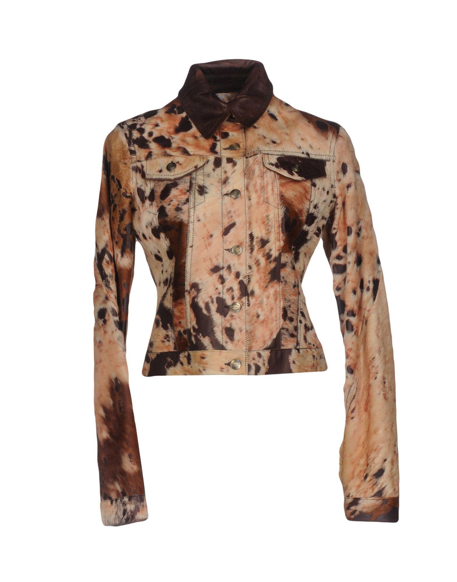Just Cavalli Beige Leather Jacket