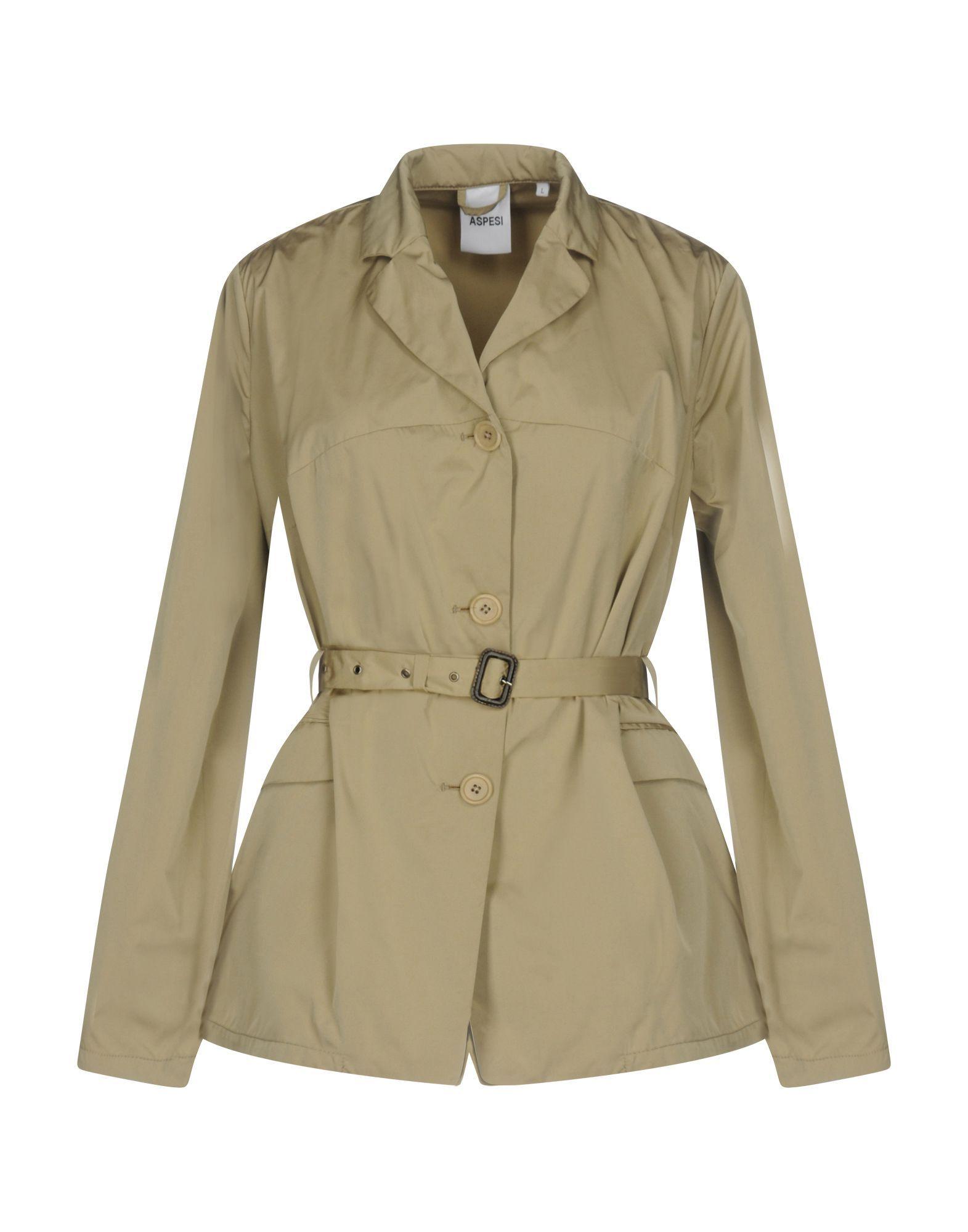 Aspesi Sand Techno Fabric Belted Jacket