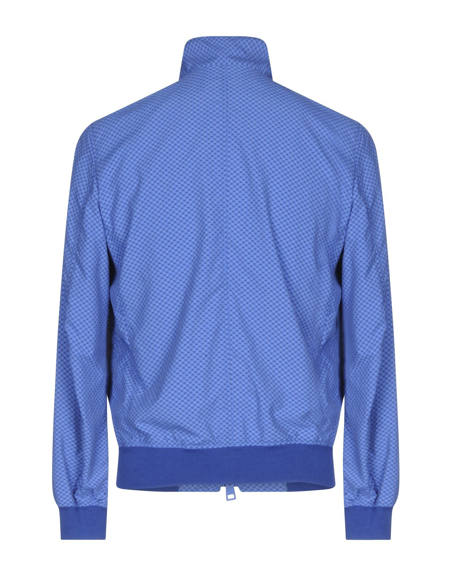 Blue cotton single-breasted jacket