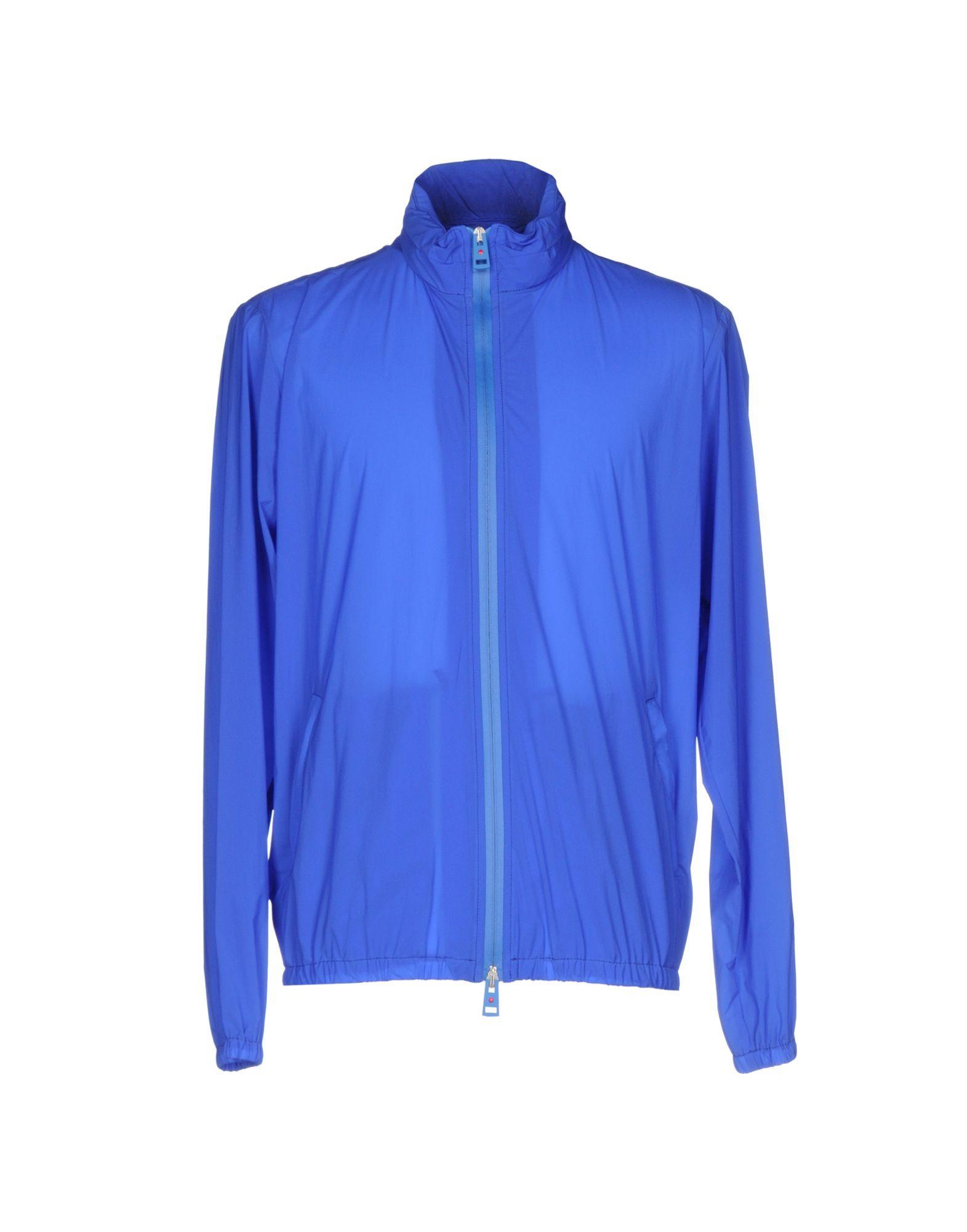 Blue single-breasted turtleneck jacket