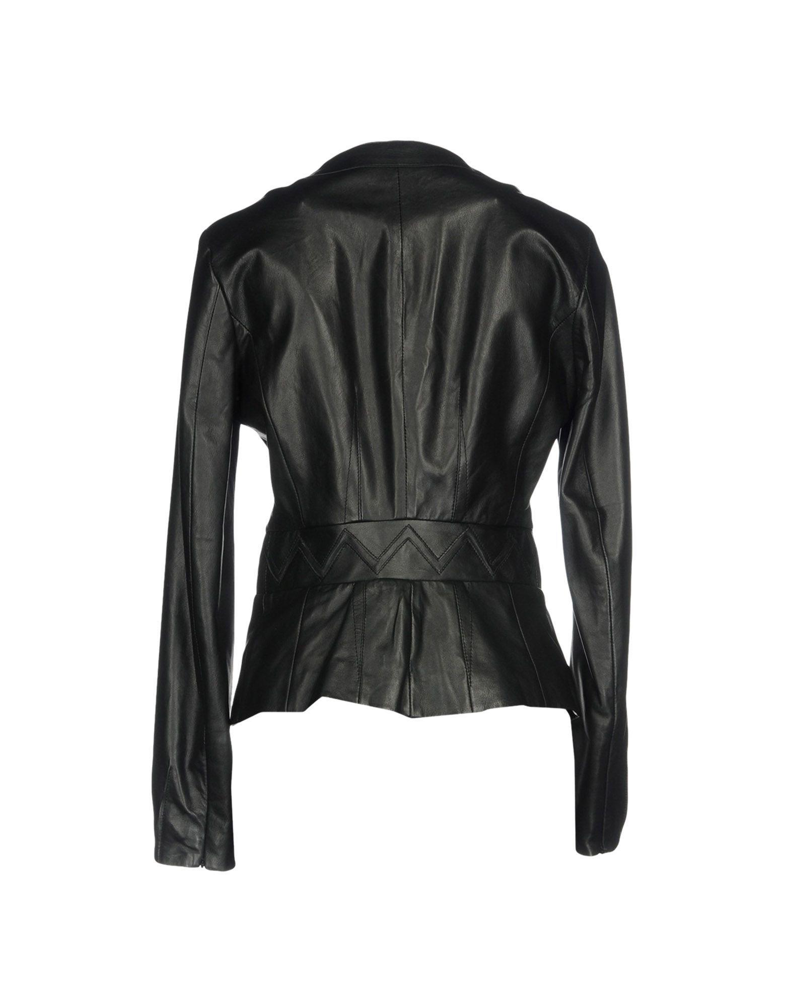 Cavalli Class Black Lambskin Jacket