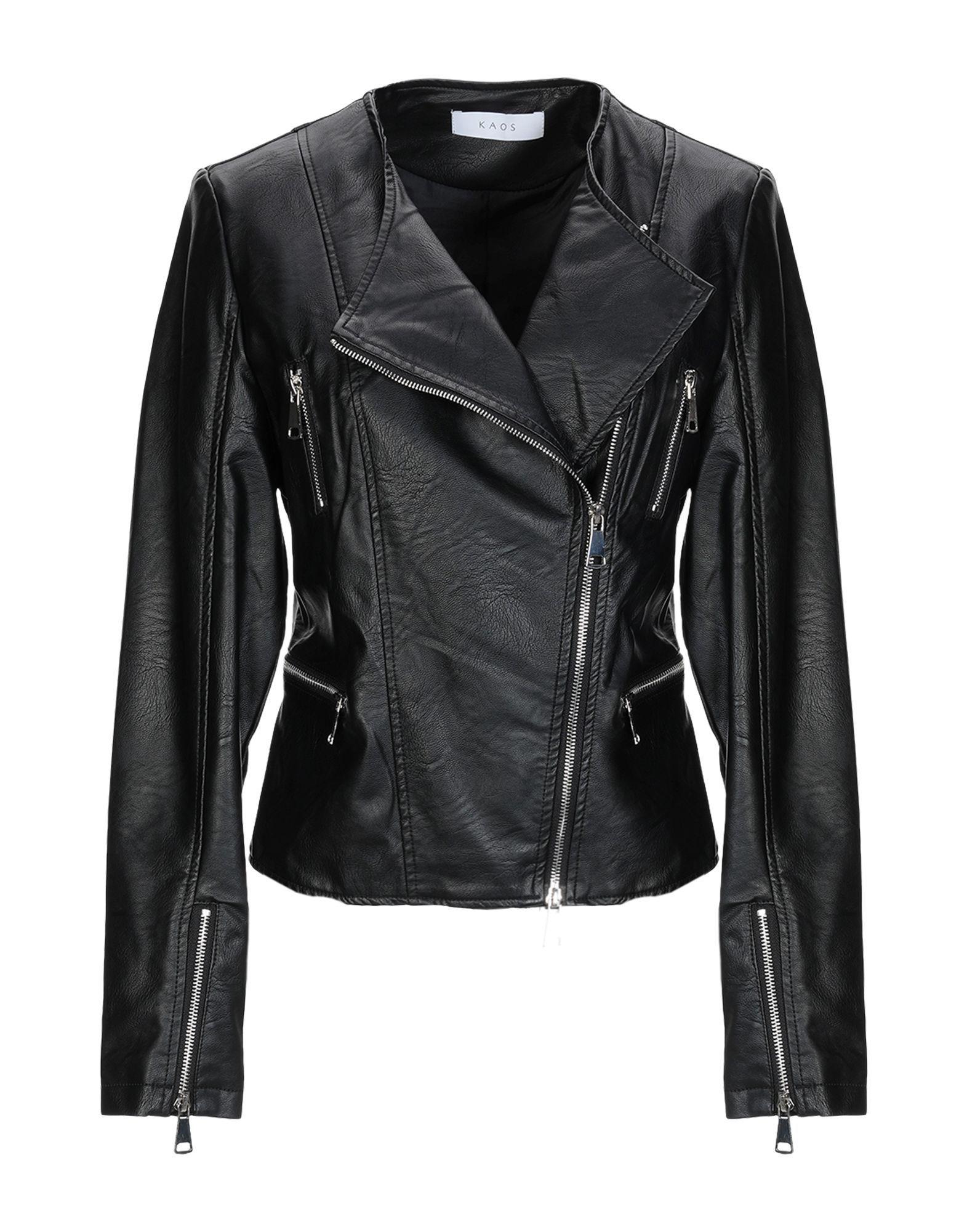 Kaos Black Faux Leather Jacket