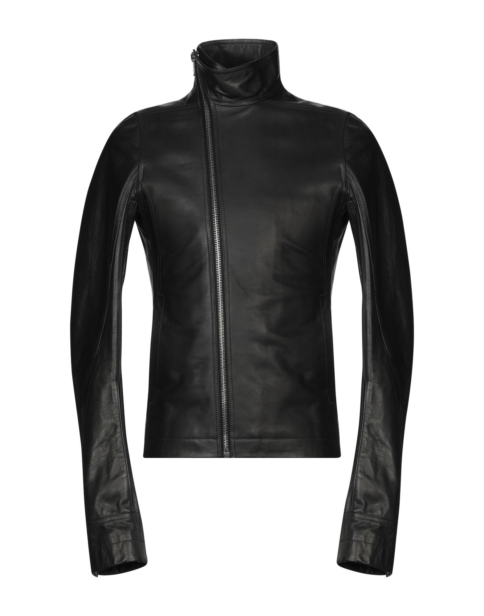 Rick Owens Black Calf Leather Jacket