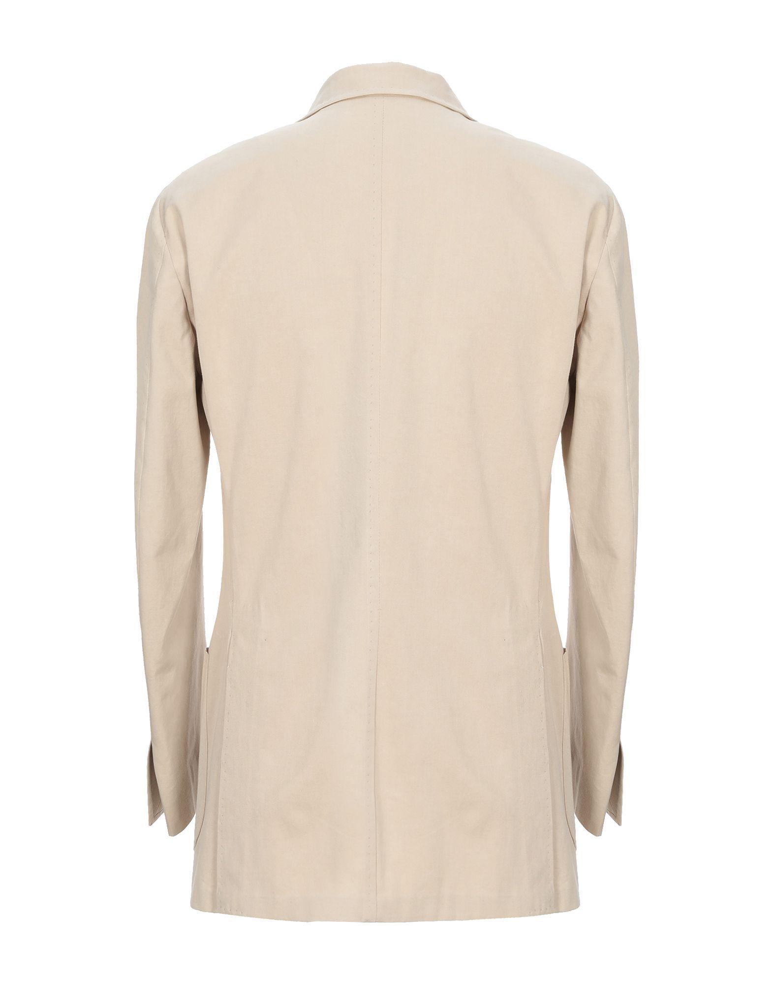 Luigi Borrelli Napoli Beige Cotton Single Breasted Jacket