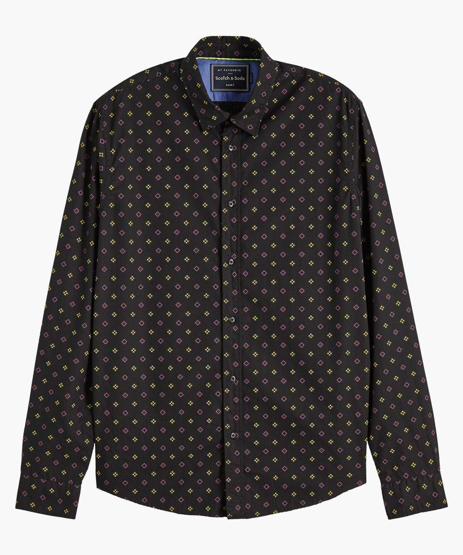 Multi-coloured cotton regular fit shirt