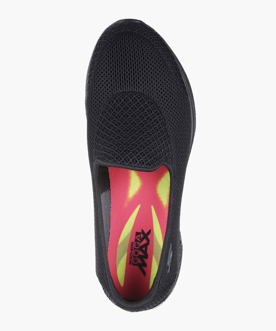 Go Walk 4 black slip-on trainers
