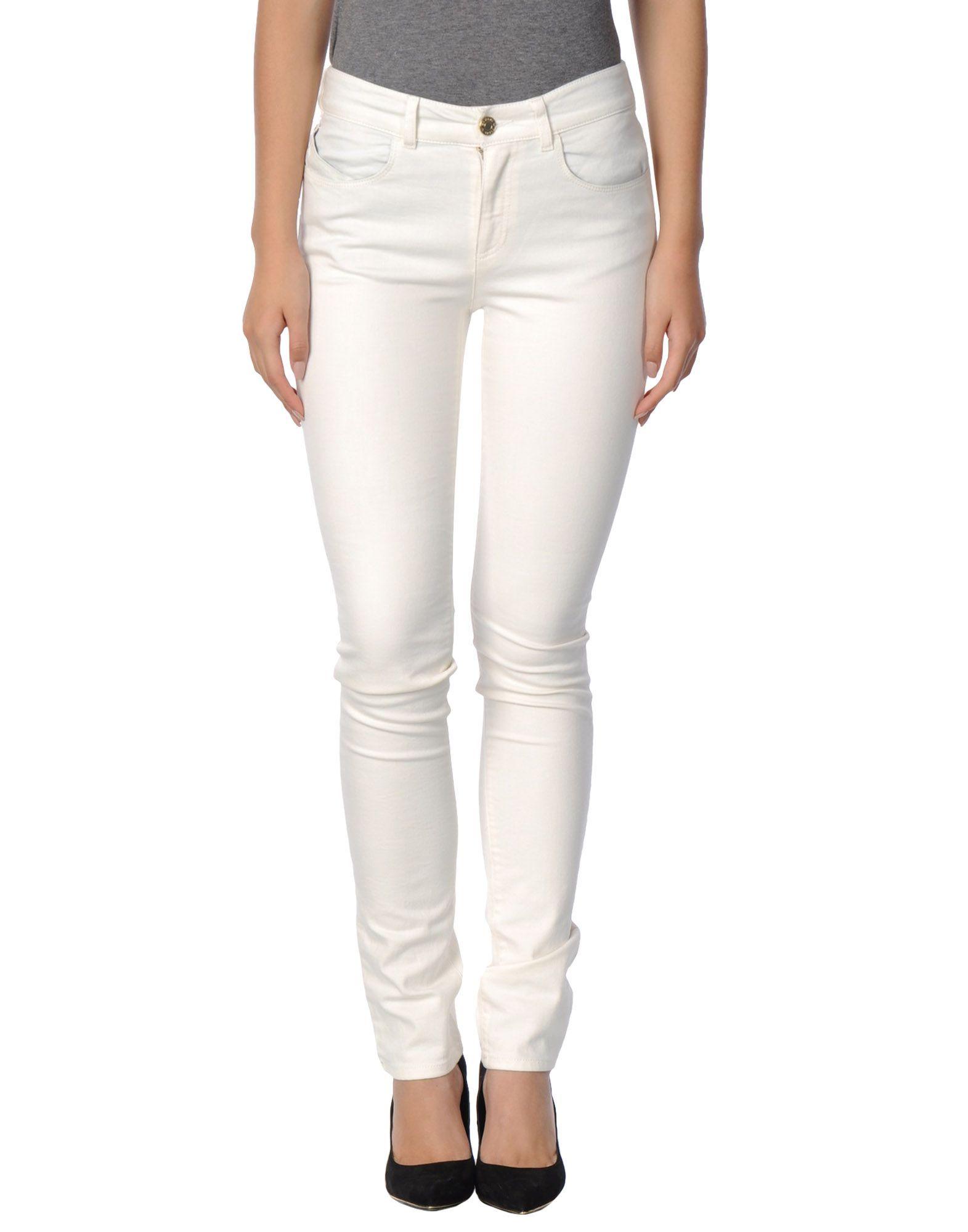 Armani Jeans Ivory Cotton Pantaloni jeans