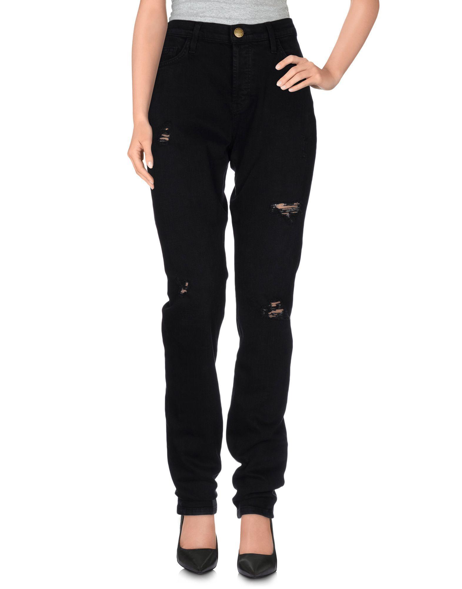 Current/Elliott Black Cotton Pantaloni jeans