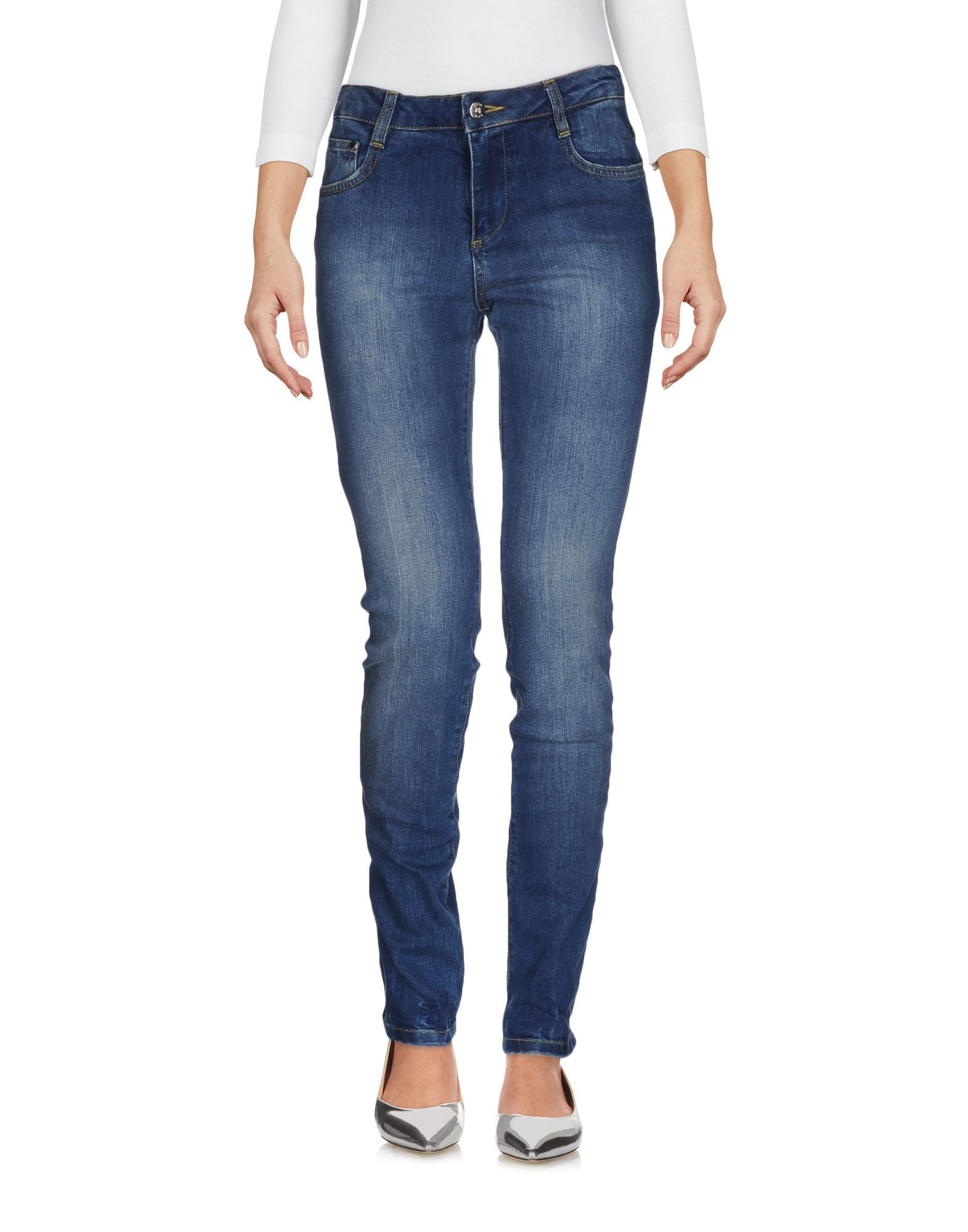Scee By Twinset Blue Cotton Skinny Jeans