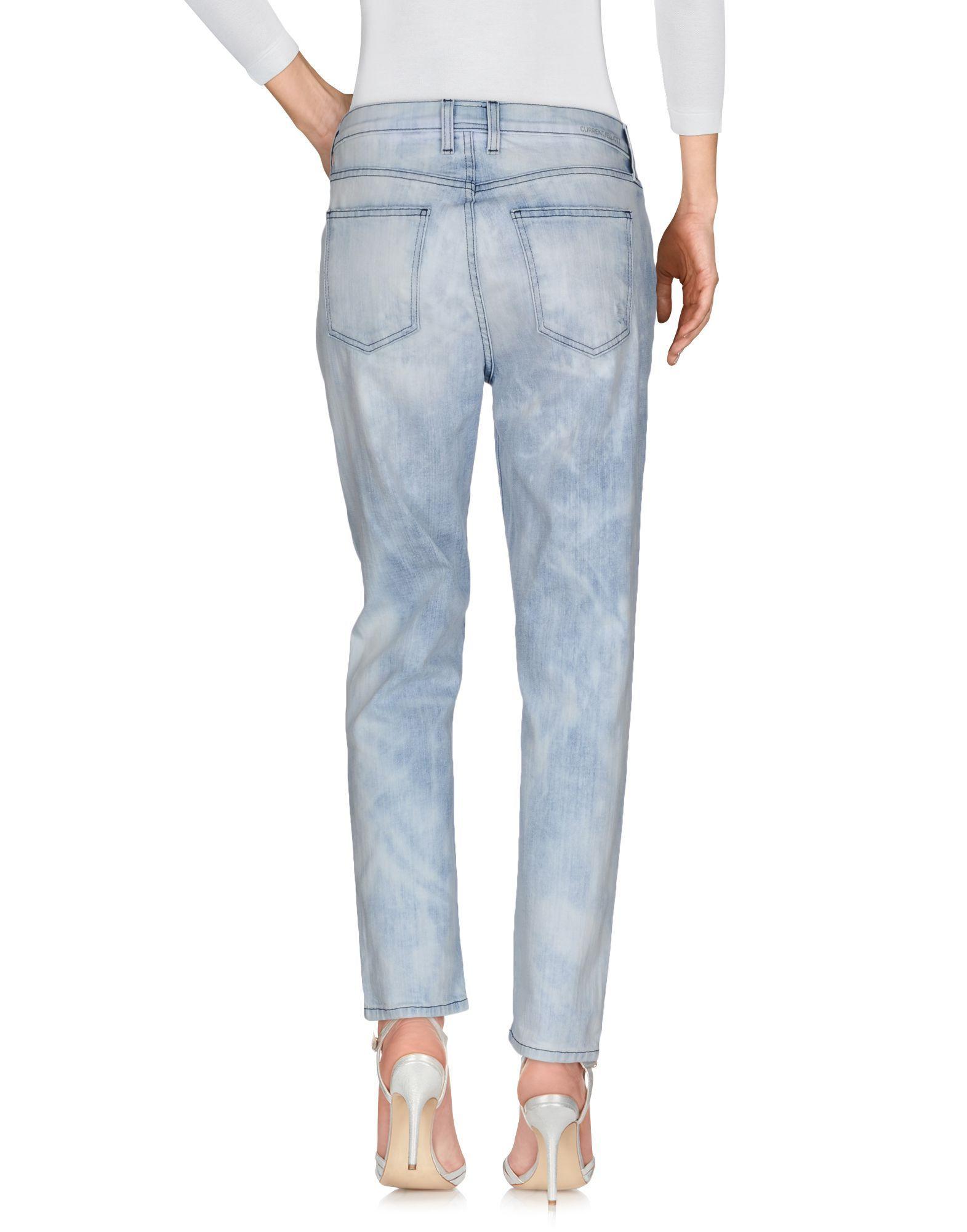 Current/Elliott Blue Cotton Pantaloni jeans