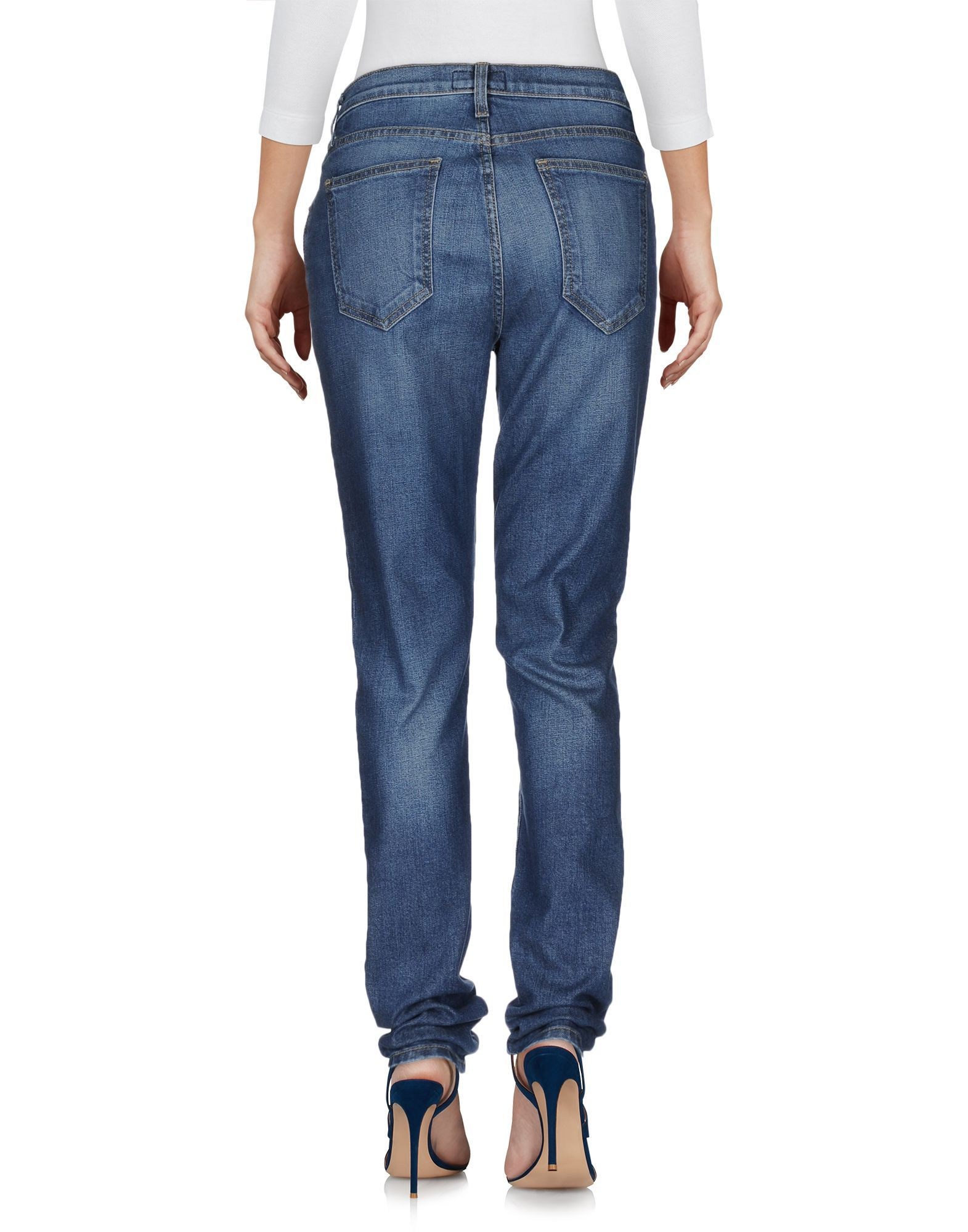 Current/Elliott Blue Cotton Pantaloni jeans