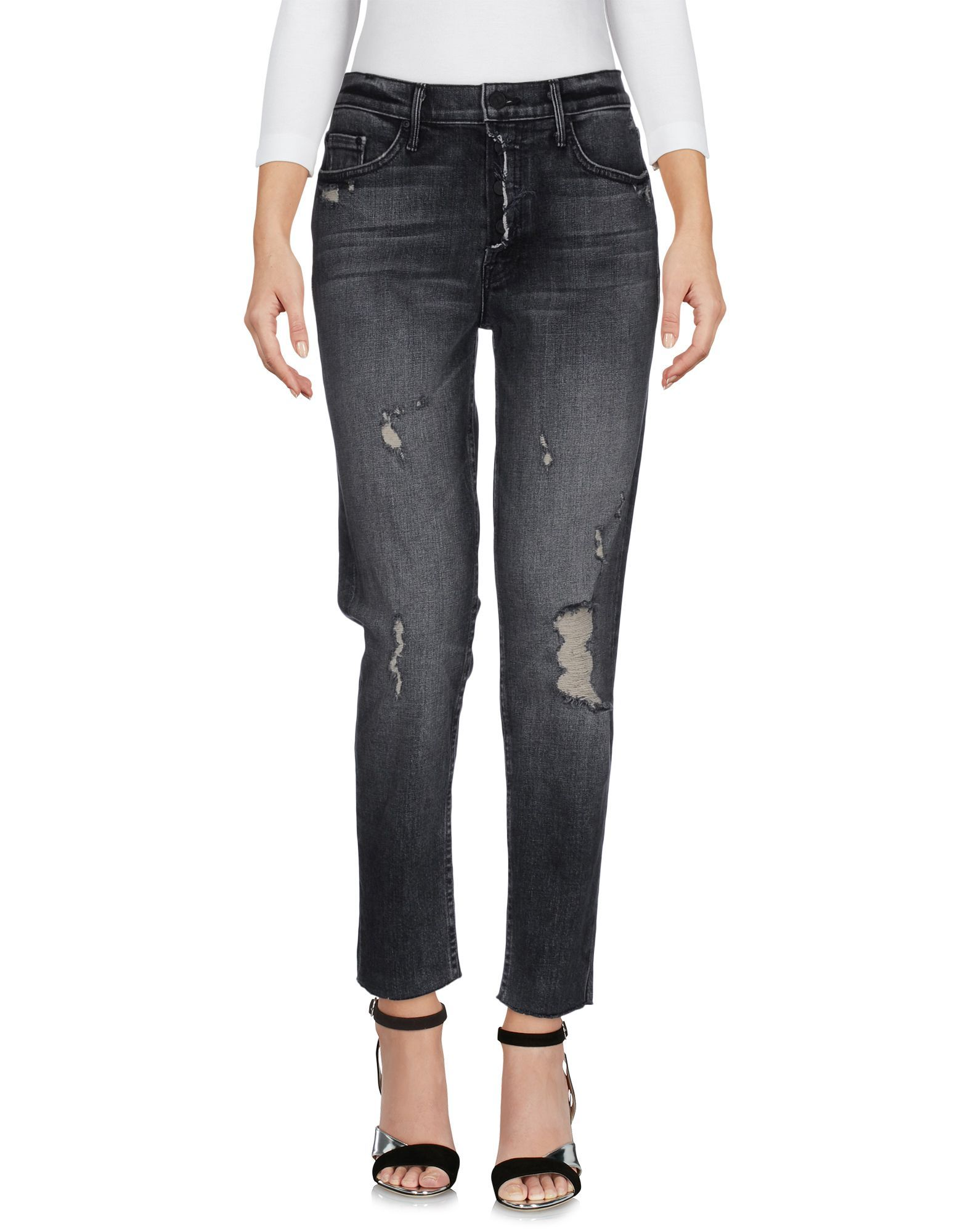 Black denim trousers