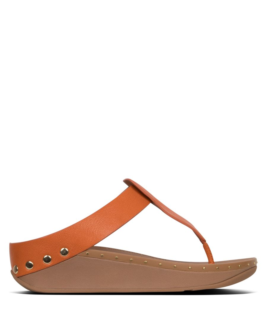 Isabelle amber ash leather studded sandals