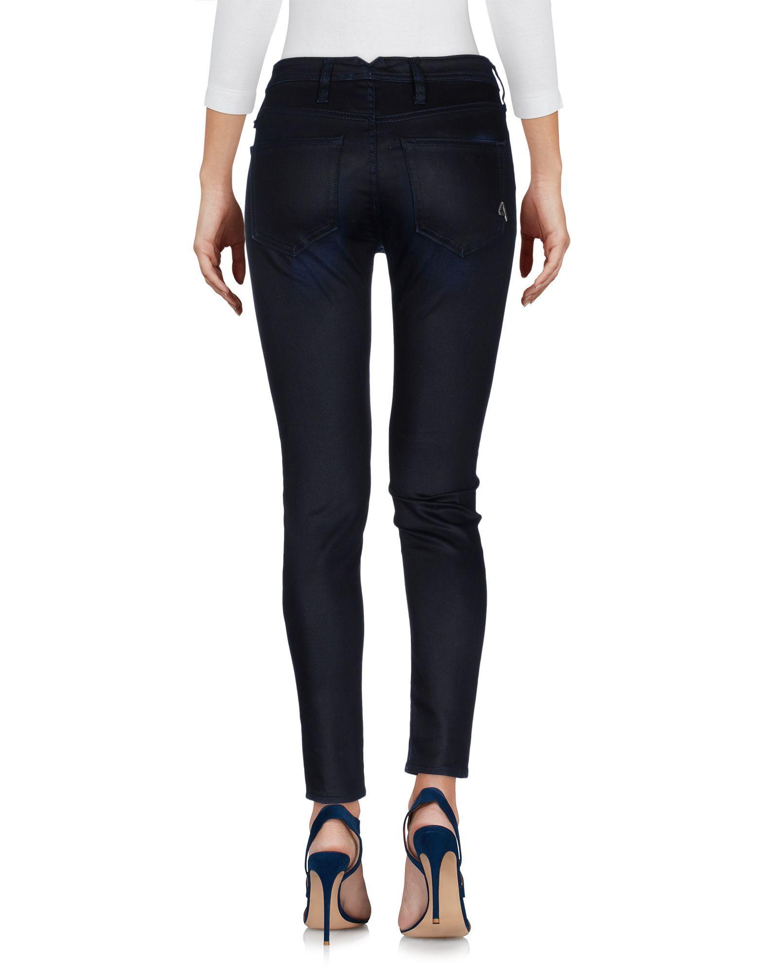 Cycle Blue Cotton Dark Wash Slim Fit Jeans