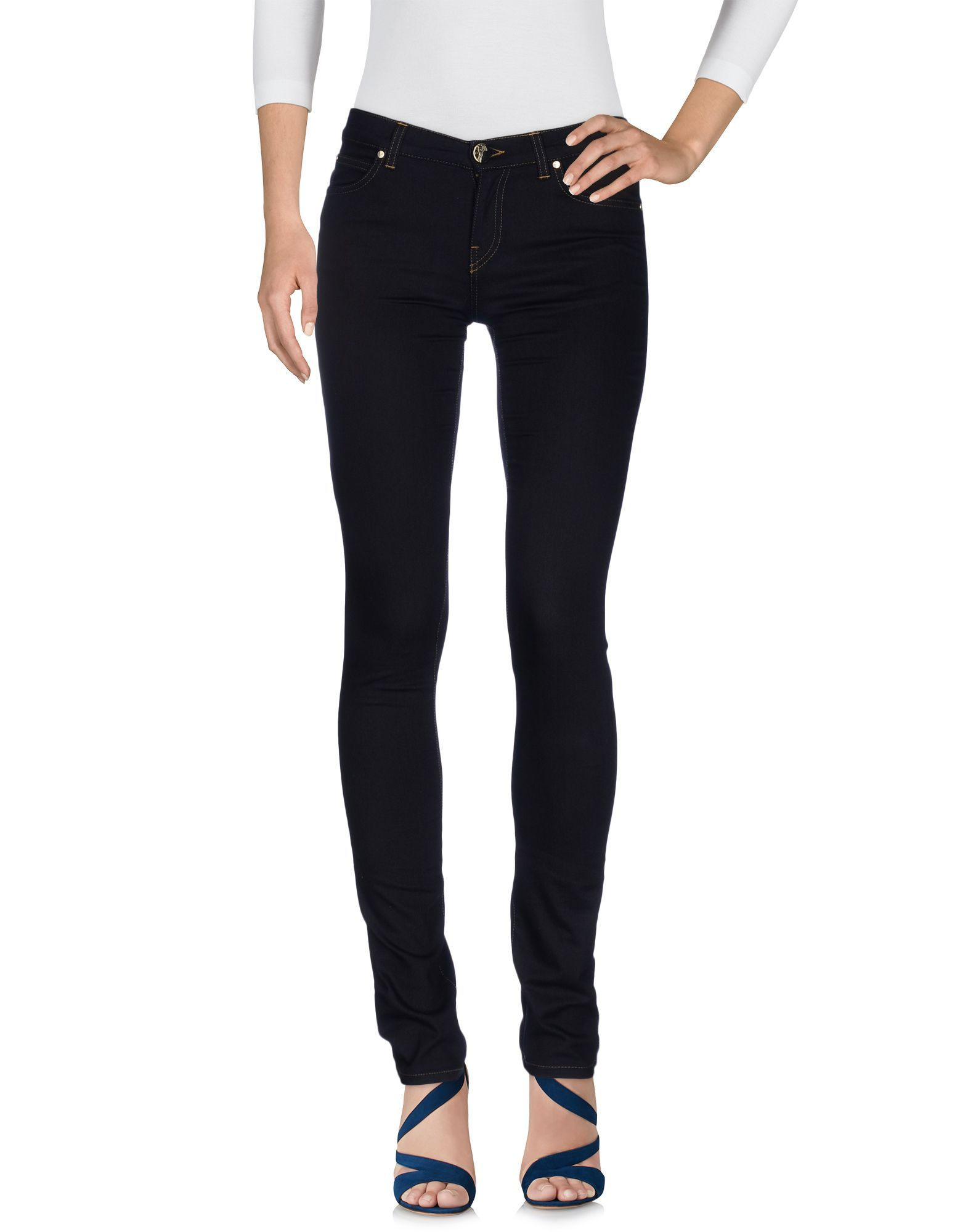 Versace Collection Blue Cotton Skinny Jeans