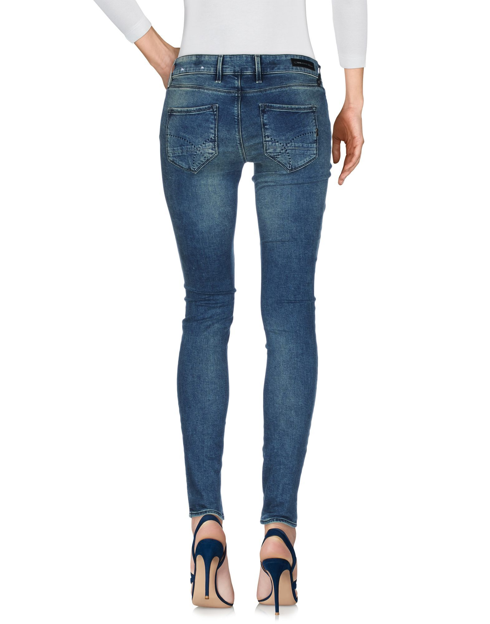 Gas Blue Cotton Skinny Jeans