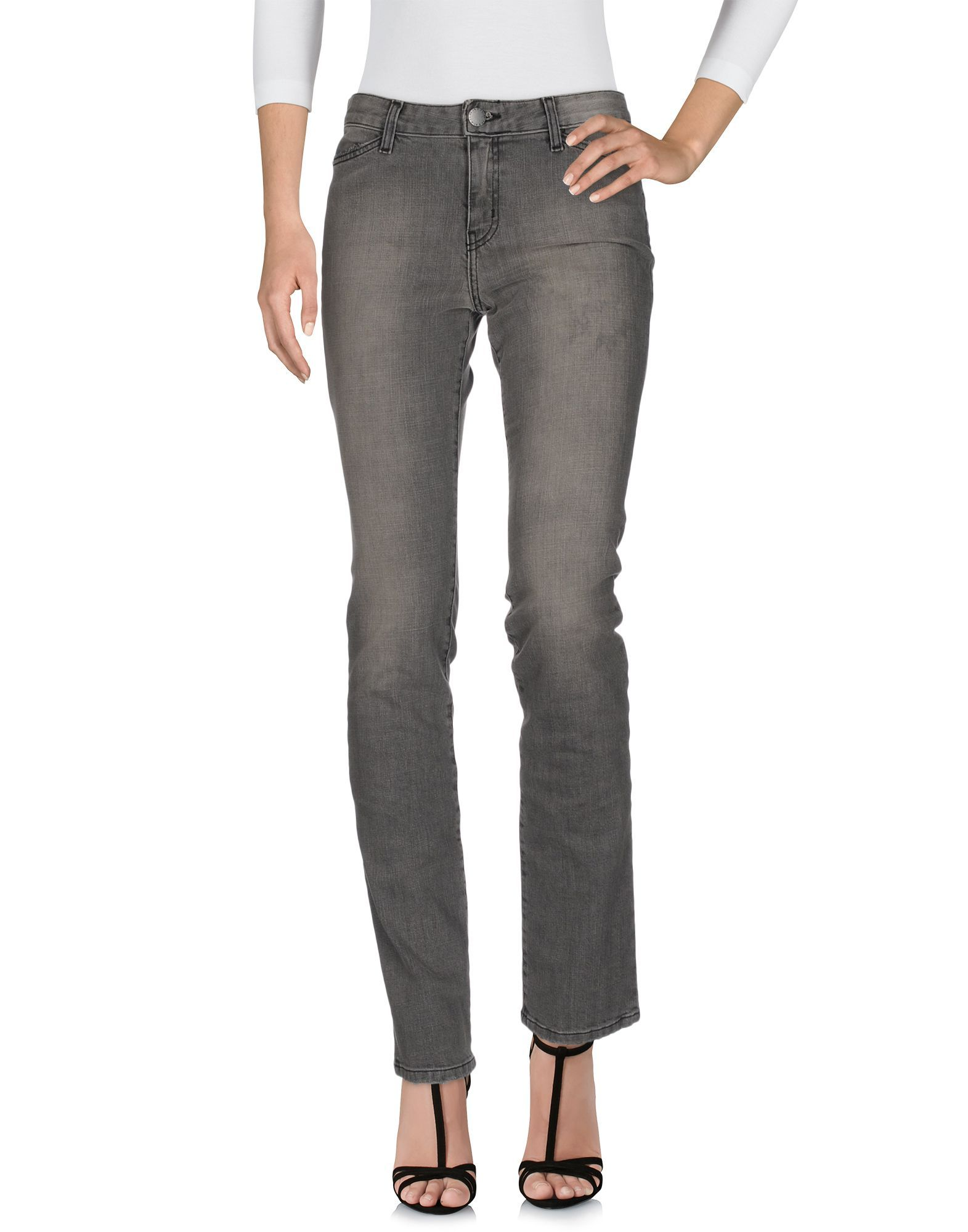 Current/Elliott Grey Cotton Pantaloni jeans