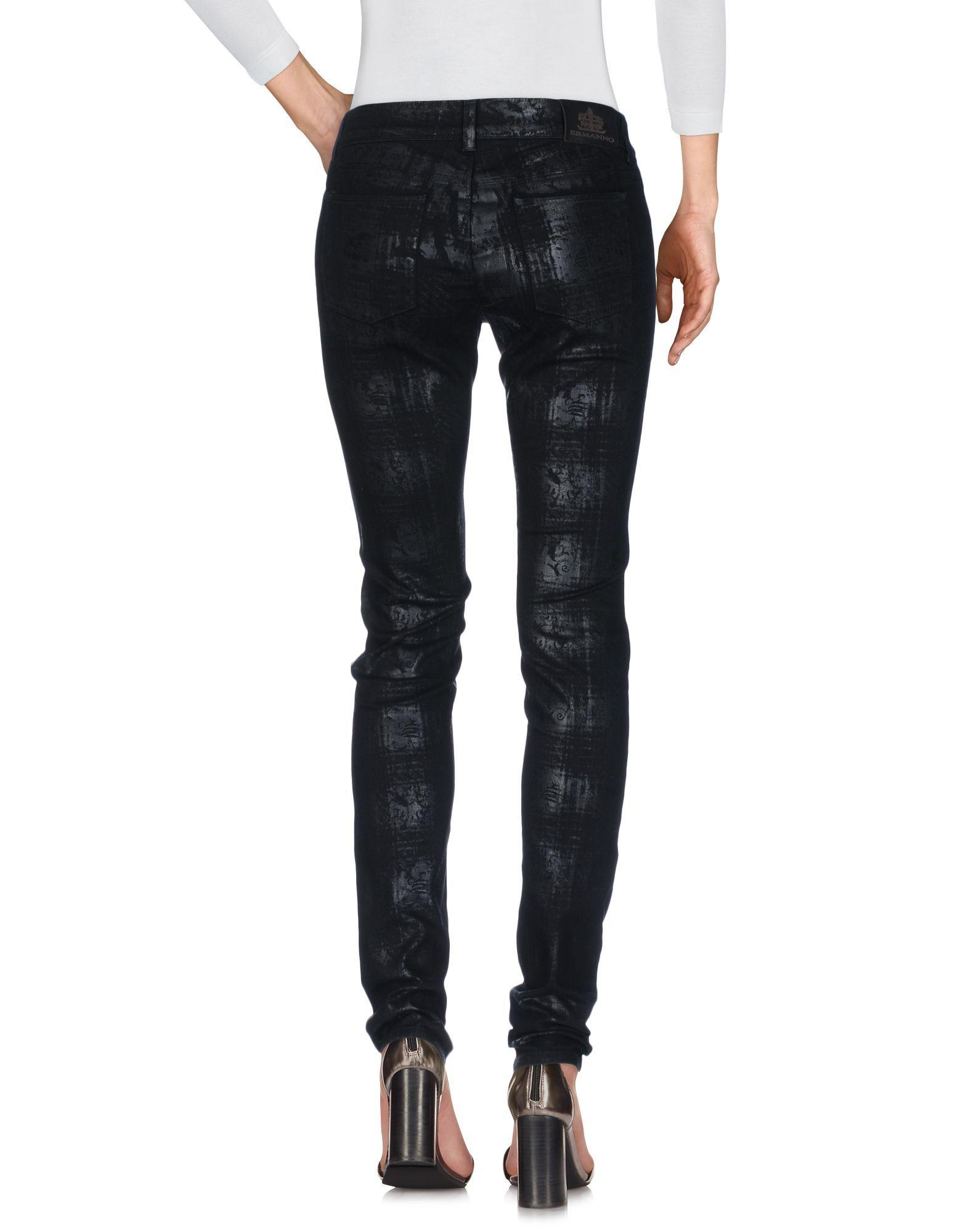 Ermanno Di Ermanno Scervino Black Cotton Skinny Jeans