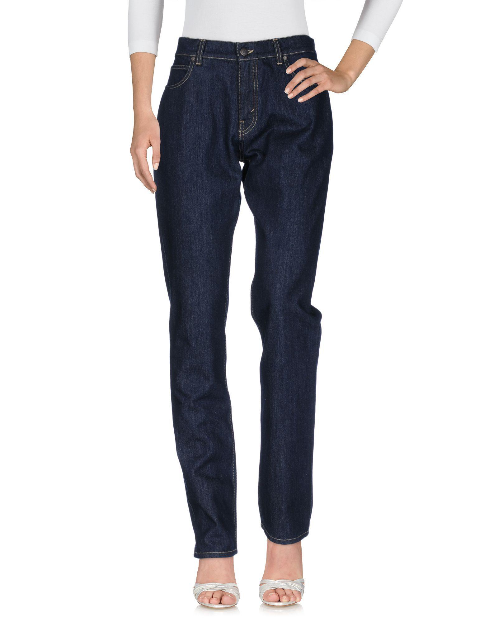 Stella McCartney Blue Cotton Dark Wash Slim Fit Jeans