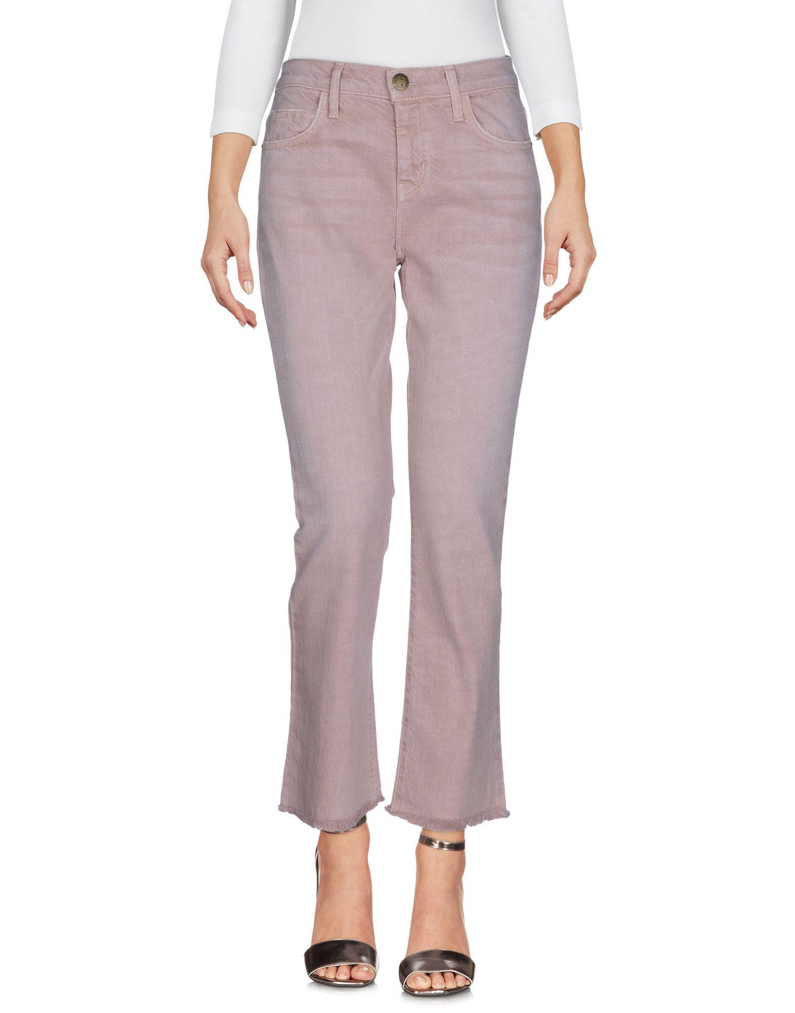 Current/Elliott Light Brown Cotton The Kick Jeans