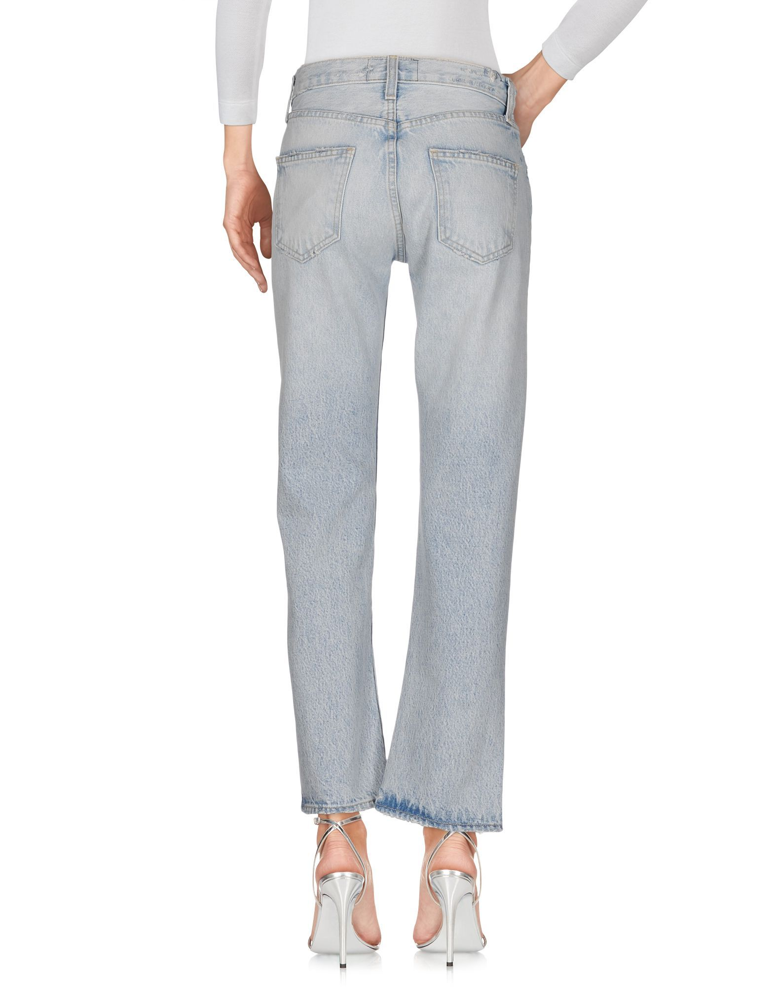 Current/Elliott Blue Cotton Cropped Jeans