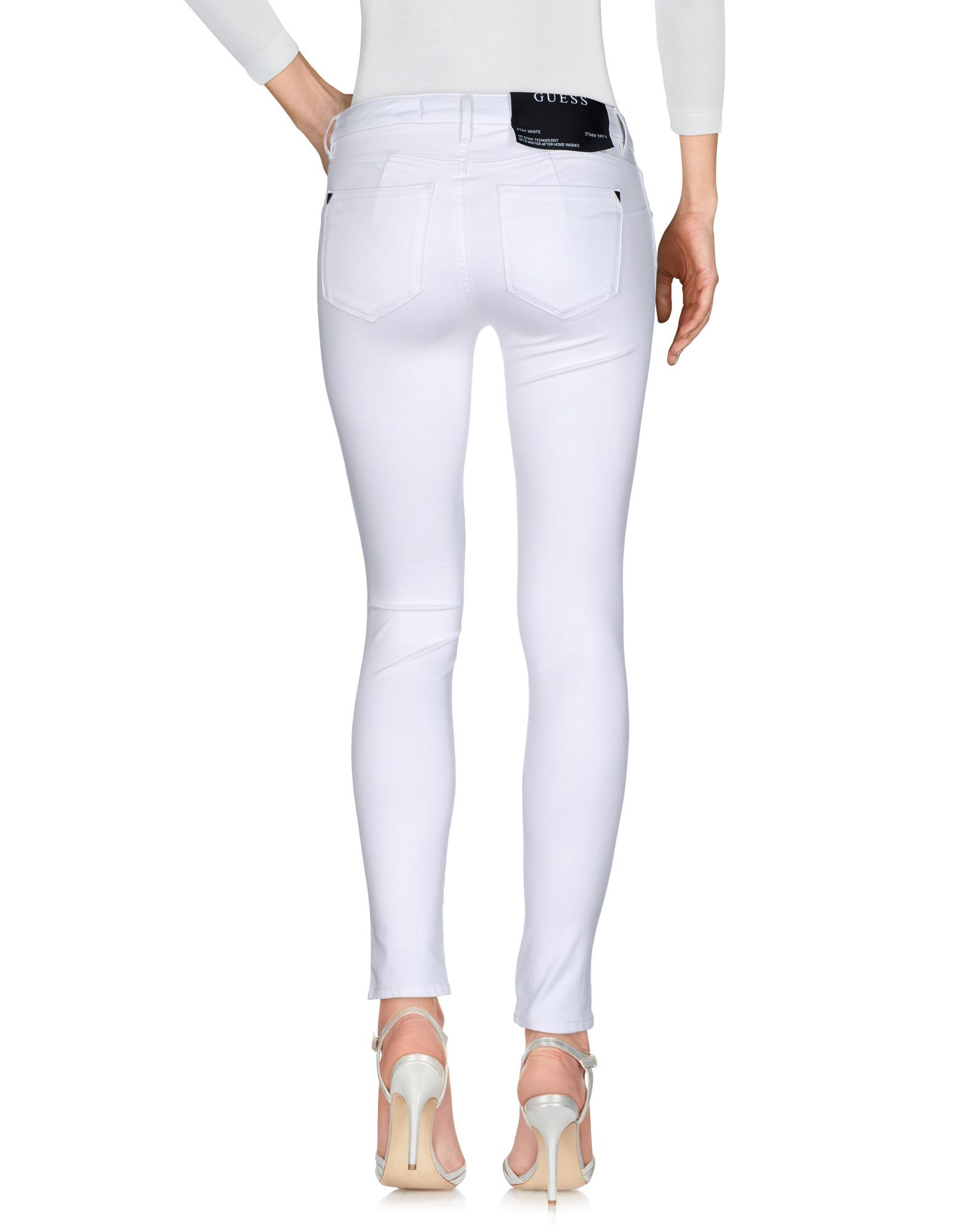 Guess White Cotton Skinny Jeans