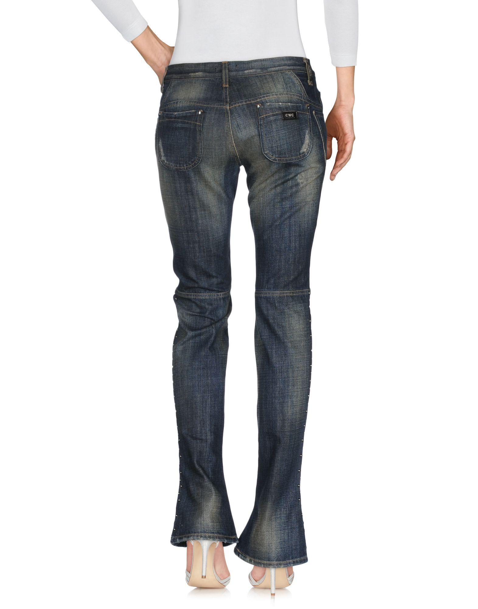 C'N'C' Costume National Blue Cotton Pantaloni jeans