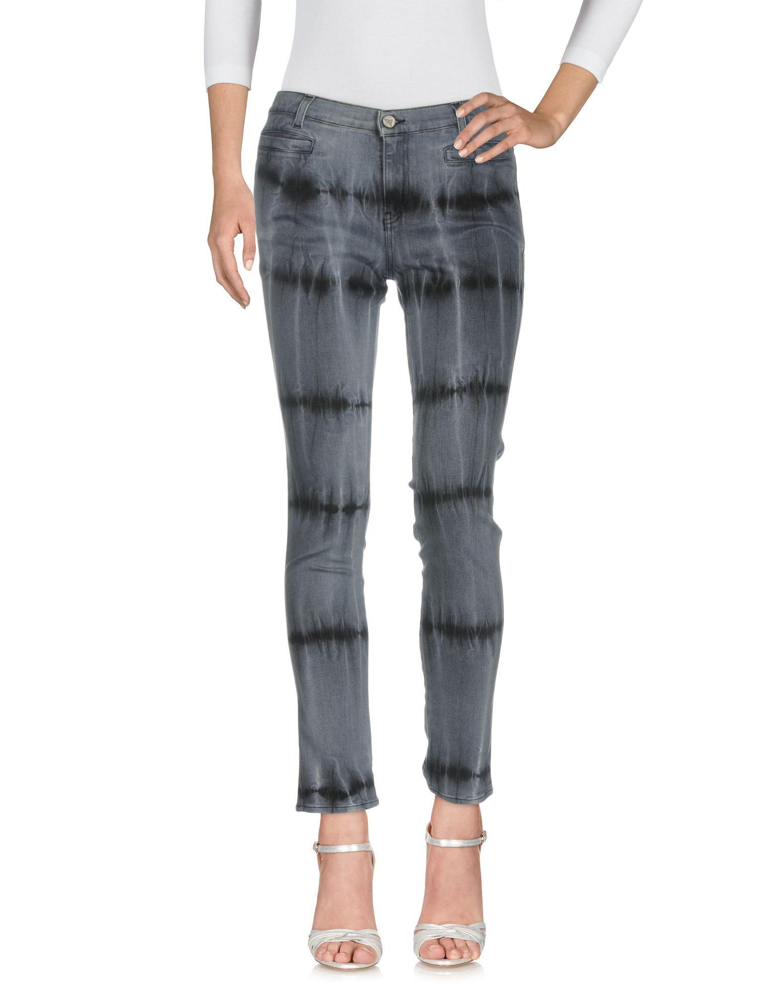 M.I.H Jeans Grey, Slate blue Cotton Pantaloni jeans