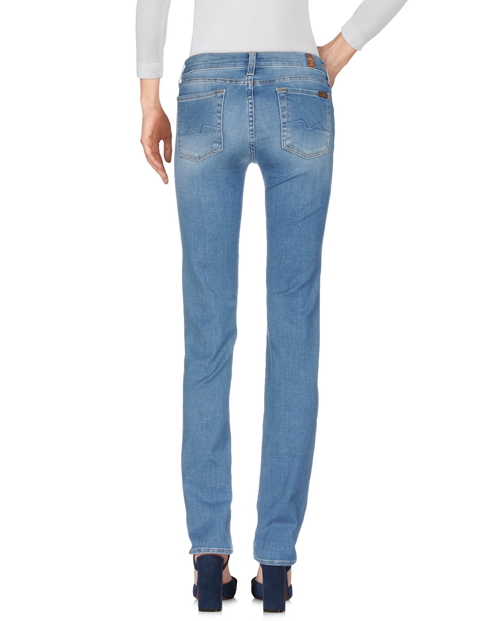7 For All Mankind Blue Cotton Jeans